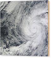 Hurricane Kenneth Off The Coast Wood Print
