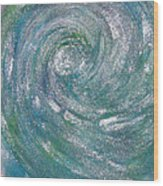 Hurricane Of Light Wood Print
