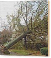 Hurricane Sandy I Wood Print