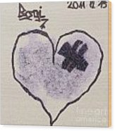 Hurting Heart Wood Print