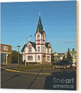Husavik Iceland Church Wood Print