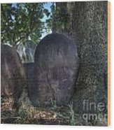 Husband And Wife Together Forever - Belleville Dutch Reformed Church - Husband And Wife Grave Wood Print