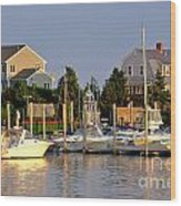 Hyannis Harbor At Sunset Wood Print