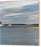 Hyannisport At Sunset Wood Print