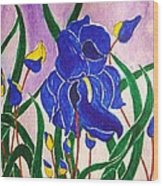 Hybrid Iris Wood Print
