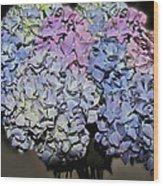 Hydrangea Boquet Wood Print