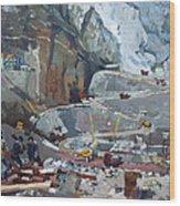 Hydropower Koman Wood Print