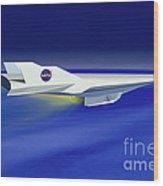 Hyper-x Hypersonic Aircraft Wood Print