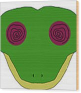 Hypno Frog Wood Print