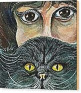Hypnotic Cat Eyes Wood Print