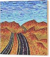 I - 15 Nevada To California Wood Print