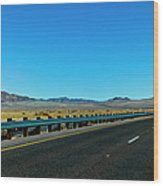 I-15 Highway, Los Angeles To Las Vegas Wood Print