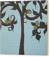 I Am The Vine Wood Print