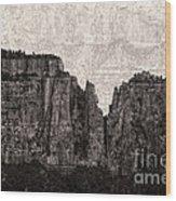I Have Climbed  A Mountain Wood Print