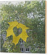 I Love Autumn 02 Wood Print