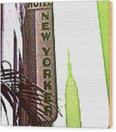 I Love New York Wood Print