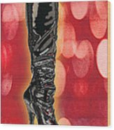 I Love The Night Life Patent Boots Wood Print