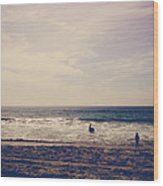 I Want To Swim In The Ocean With You Wood Print by Laurie Search