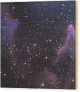 Ic 59 And Ic 63 Near Gamma Cas Wood Print