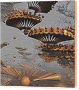 Icarus' New Wings Wood Print