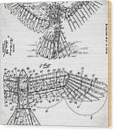 Icarus Patent 1889 Wood Print