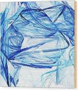 Ice 002 Wood Print