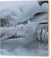 Ice 13 Wood Print