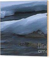 Ice 15 Wood Print