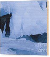 Ice 18 Wood Print