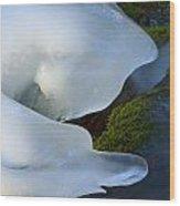Ice 22 Wood Print