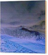 Ice Blue Stone Wood Print