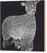 Ice Cold Lamb Carved In Ice Wood Print
