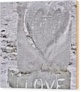 Ice Cold Love Wood Print