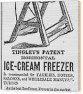 Ice Cream Freezer, 1872 Wood Print