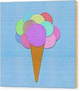 Ice Cream On Hand Made Paper Wood Print
