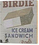 Ice Cream Sandwich Wood Print