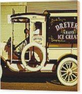 Ice Cream Truck Wood Print