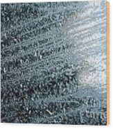 Ice Crystals Abstract Wood Print
