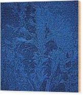 Ice Crystals Blue Design Wood Print