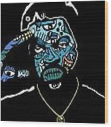 Ice Cube Wood Print