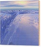 Ice Fissure Wood Print