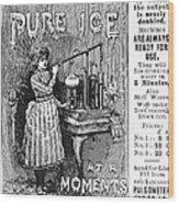 Ice Machine, 1891 Wood Print
