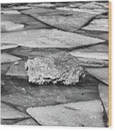Ice Puzzle Holding Wood Print