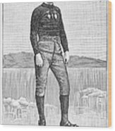 Ice Skater, 1880 Wood Print