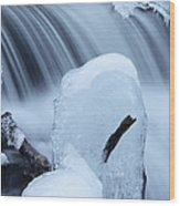 Ice Tombstone Frozen In Time Wood Print
