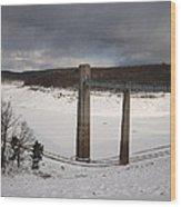 Ice Tower Catwalk Wood Print