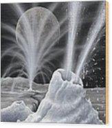 Ice Volcanoes On Charon, Artwork Wood Print