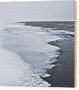 Ice Water Wood Print