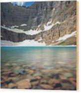 Iceberg Lake Wood Print