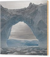 Iceberg With A Natural Arch, Antarctic Wood Print